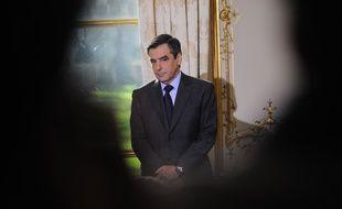 François Fillon à Matignon, le 9 janvier 2012.