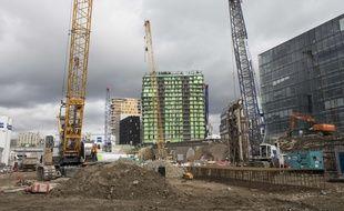 Le chantier des tours Duo de l'architecte Jean Nouvel, dans le 13e arrondissement de Paris. (Illustration)