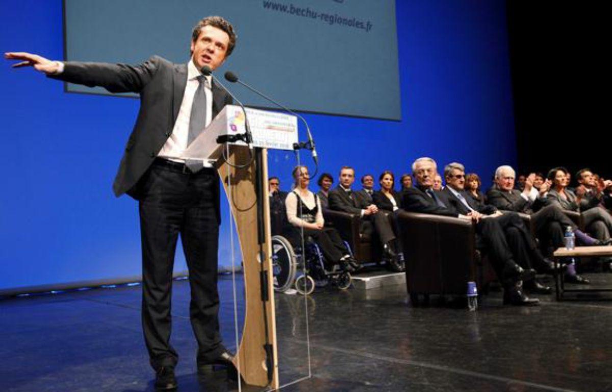 Christophe Béchu, tête de liste UMP en Pays de la Loire aux régionales de 2010. – SICHOV/SIPA