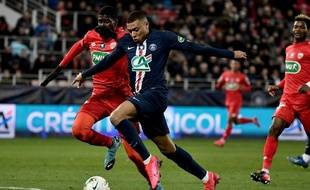 Mbappé en Coupe de France face à Dijon.