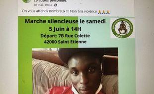 L'association JIAS a posté ce message sur son compte Facebook, en vue de la marche silencieuse de samedi.