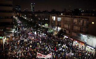 Plus de 400.000 israéliens ont manifesté dans le centre de Tel Aviv le 3 septembre 2011