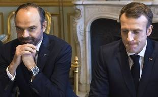 Edouard Philippe et Emmanuel Macron lors d'une réunion à l'Elysée, le 27 novembre 2018.