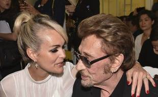 Laeticia et Johnny Hallyday, le 4 juillet 2016 à Paris.