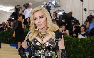 La chanteuse Madonna au Met Gala 2017