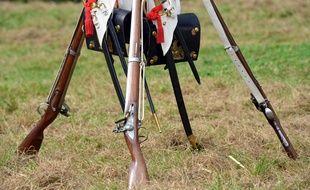Mise en scène de la vie des soldats de Napoléon.