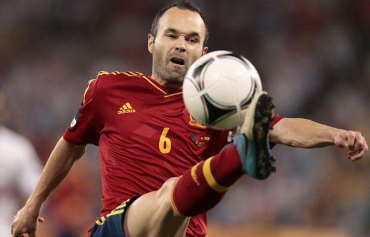 Le milieu espagnol Andres Iniesta, lors d'un match de l'Euro contre le Portugal, le 27 juin 2012. – I.Sekretarev/Sipa