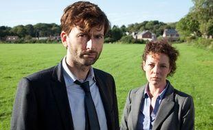 David Tennant et Olivia Colman, duo d'enquêteurs de la série Broadchurch