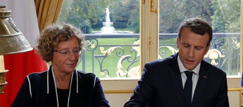 Muriel Pénicaud et Emmanuel Macron, le 22 septembre 2017 à l'Elysée.