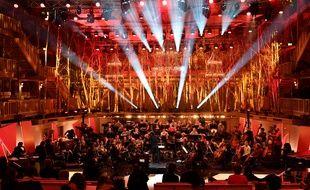 L'orchestre de l'Opéra de Lyon en répétition dans la Grange au Lac à Evian, qui accueillait cette année les 25e «Victoires de la musique classique».