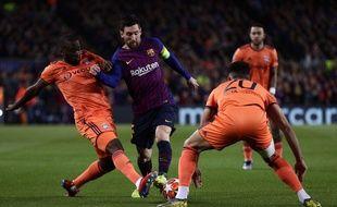 Messi lors de Barça-OL en Ligue des champions.