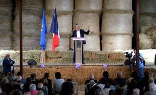 Laurent Wauquiez à la 4e fête de la Violette, organisée par la Droite forte du député LR Guillaume Peltier, à Souvigny-en-Sologne (Loir-et-Cher), septembre 2018