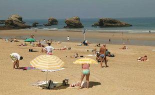 L'une des principales plages de Biarritz.