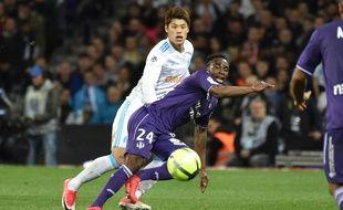 Le but de Firmin Mubele face à l'OM n'a pas suffi au TFC, finalement battu (1-2) au Stadium de Toulouse le 11 mars 2018 en Ligue 1.