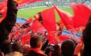 Illustration de supporters du Stade Rennais.