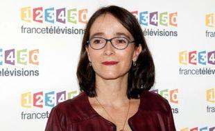 La présidente de France Télévision Delphine Ernotte le 4 novembre 2015 à Paris