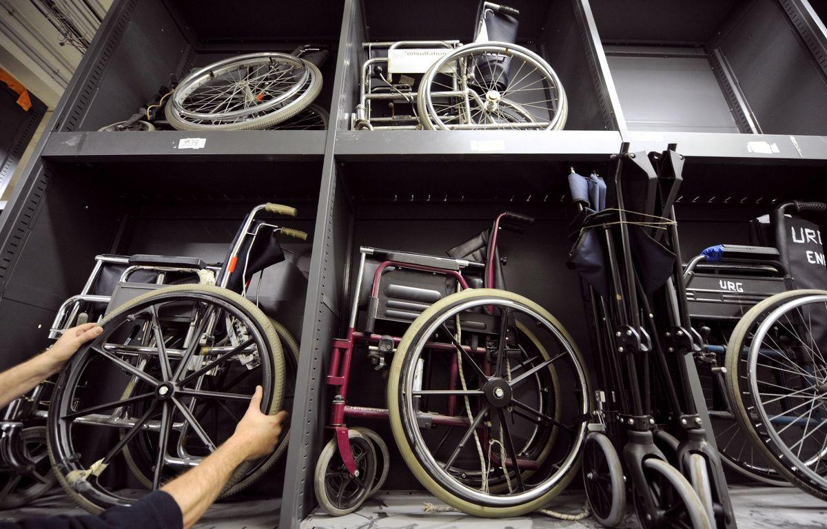 Illustration fauteuils roulants. – LIONEL BONAVENTURE / AFP