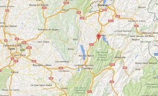 Le pied du massif du Semnoz, près d'Annecy.