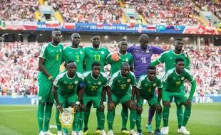 L'équipe de football du Sénégal.