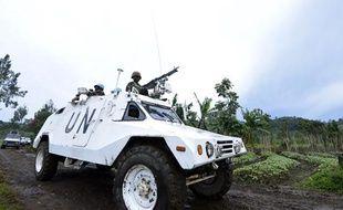 Un véhicule de l'ONU au Nord-Kivu le 5 novembre 2013.