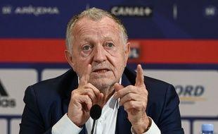 Jean-Michel Aulas, le 27 avril 2021 au Parc OL.