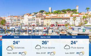 Météo Cannes: Prévisions du vendredi 19 juillet 2019
