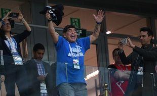 Maradona a apprécié le match Argentine-Nigeria.