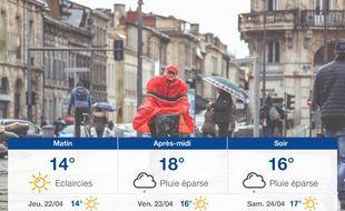 Météo Bordeaux: Prévisions du mercredi 21 avril 2021