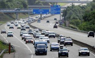 Vue de l'autoroute A11, près du Mans (illustration)