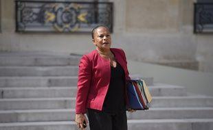 La ministre de la Justice Christiane Taubira le 2 septembre devant l'Elysée.