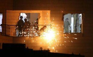 Les soldats israéliens détruisent le 20 octobre 2015 l'appartement d'un Palestinien qui avait tué une Israélienne fin 2014 à Hébron