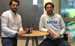 Gaspard Hafner et Pierre Garonnaire sont les deux fondateurs du réseau social MYM