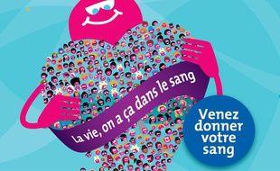 Affiche de la journée mondiale du don du sang 2012.