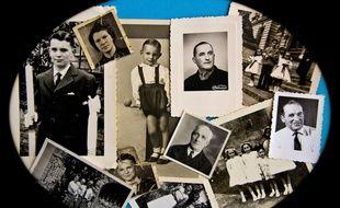 Des photos de famille des années 1930, 1940 et 1950. Illustration.