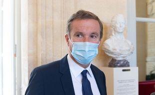 Nicolas Dupont-Aignan à l'Assemblée nationale, le 30 mars 2021.