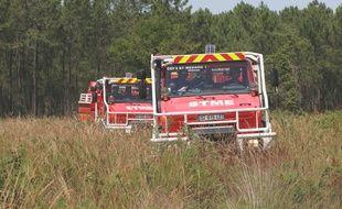 Illustration intervention des pompiers sur un feu de forêt.