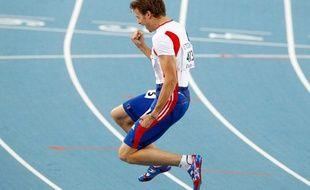 Christophe Lemaitre aux championnats du monde d'athlétisme de Daegu le 28 août 2011.