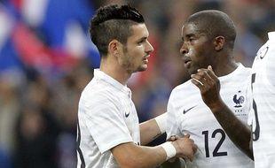 Le joueur de l'équipe de France, Rémy Cabella, pour sa première sélection face à la Norvège, le 27 mai 2014.