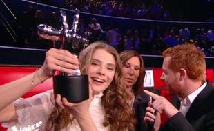 Maëlle a remporté la finale de The Voice.