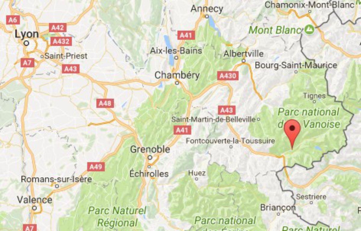 Le jeune homme a fait une chute mortelle au cours d'une randonnée en Maurienne.  – Google Maps