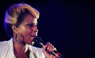 Mary J. Blige en concert en Floride en mars 2012.