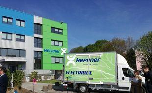 Basée à Strasbourg, l'entreprise de logistique Heppner entame ici sa phase de test de la camionnette électrique avant de la poursuivre à Lyon et Montpellier.