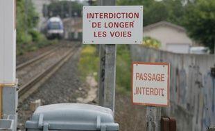 Illustration d'un passage dangereux sur le voie ferrée de la Haute-Garonne.