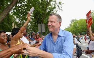 Le candidat à l'élection municipale new yorkaise Bill de Blasio en campagne à Brooklyn, le 2 septembre 2013.