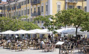 Une terrasse à Nice (illustration).