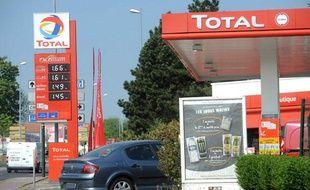 Une station service Total à Nancy en avril 2011.