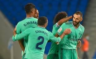Karim Benzema a été décisif lors de la victoire du Real contre l'Espanyol Barcelone, le 28 juin 2020.