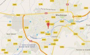 Localisation du drame, rue d'Haumont à Maubeuge