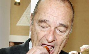 Jacques Chirac, président de la République, à Diriyah près de Riyadh (Arabie Saoudite) le 5 mars 2006.