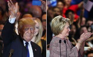 Donald Trump et Hillary Clinton, victorieux dans la primaire de New York, le 19 avril 2016.